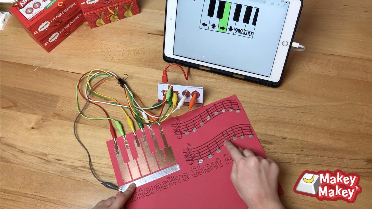 Interactive Sheet Music with Makey Makey