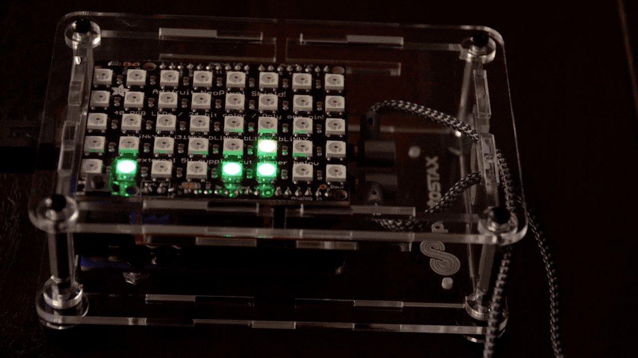 Make beautiful music with Adafruit, SparkFun, Arduino and ProtoStax! Create an RGB matrix audio visualizer with Arduino.