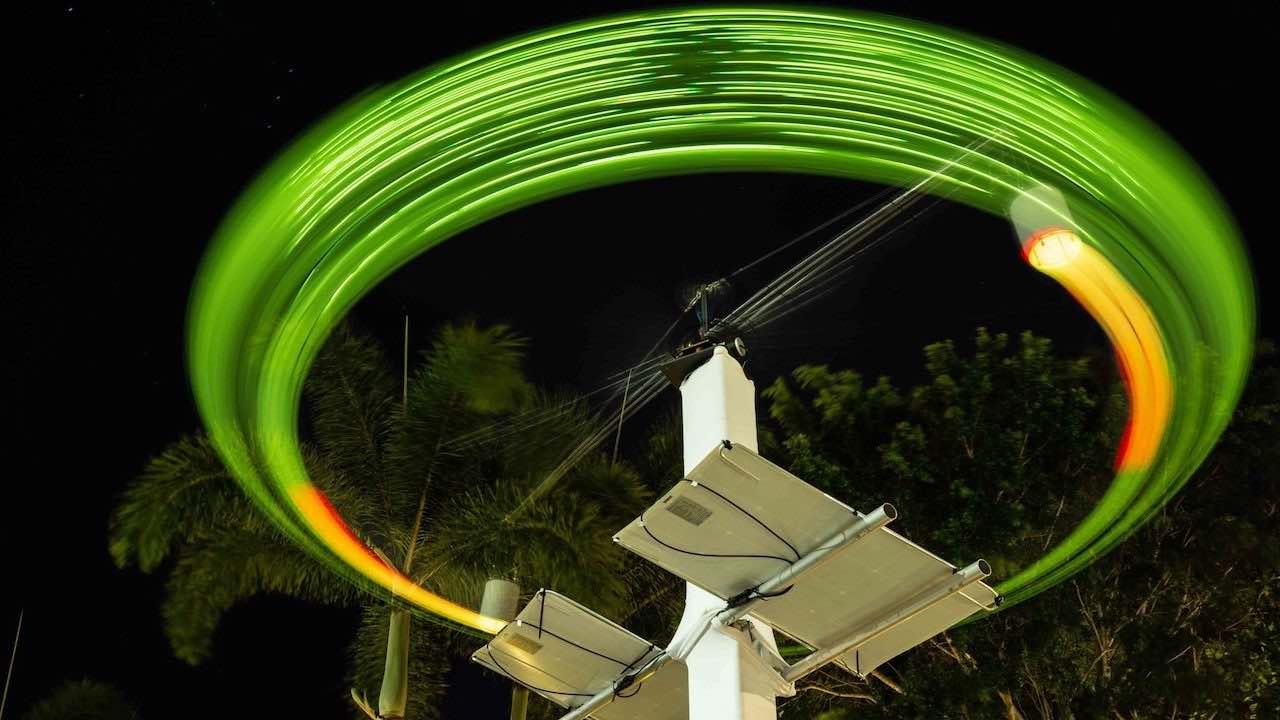 Towering rotating sound sculptures