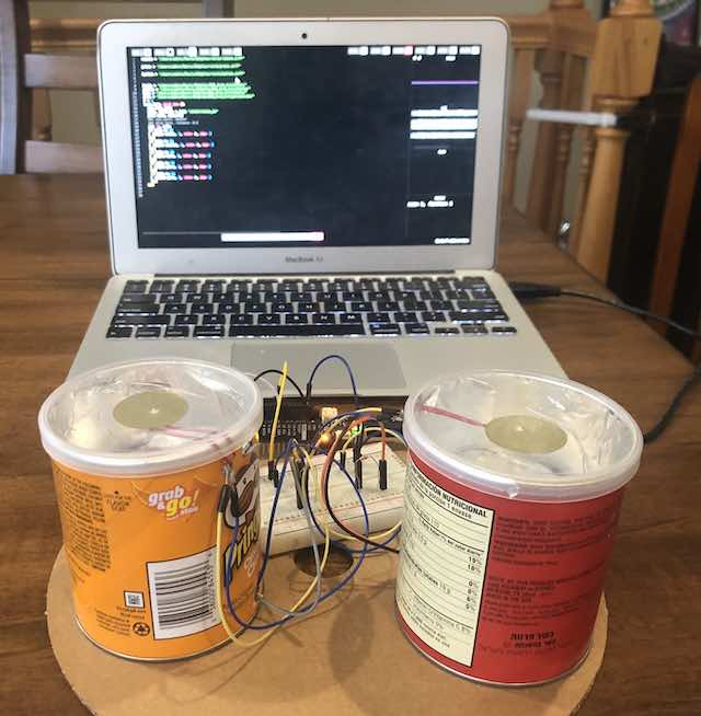 Pringles Drums w/ Sonic Pi and Arduino