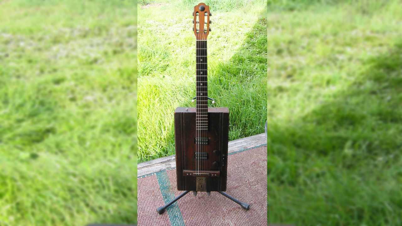 Silver Tone Silverware Box Guitar