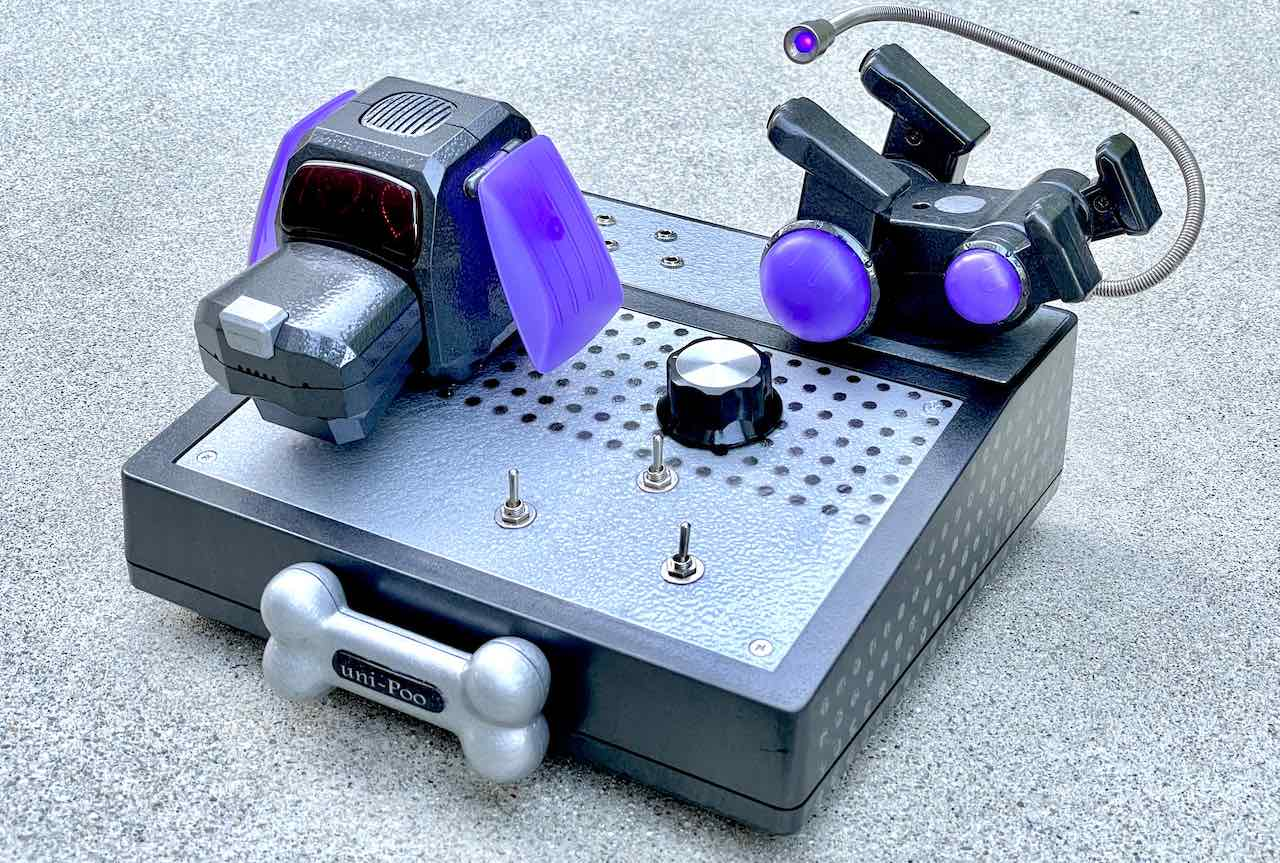 Circuit Bent CV controlled Motorized Robot Dog Toy